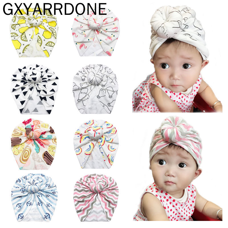 BAOBAO 3Pcs Baby Cute Star Top Knot Beanies Hats Infant Newborn Soft Warm Cotton Caps