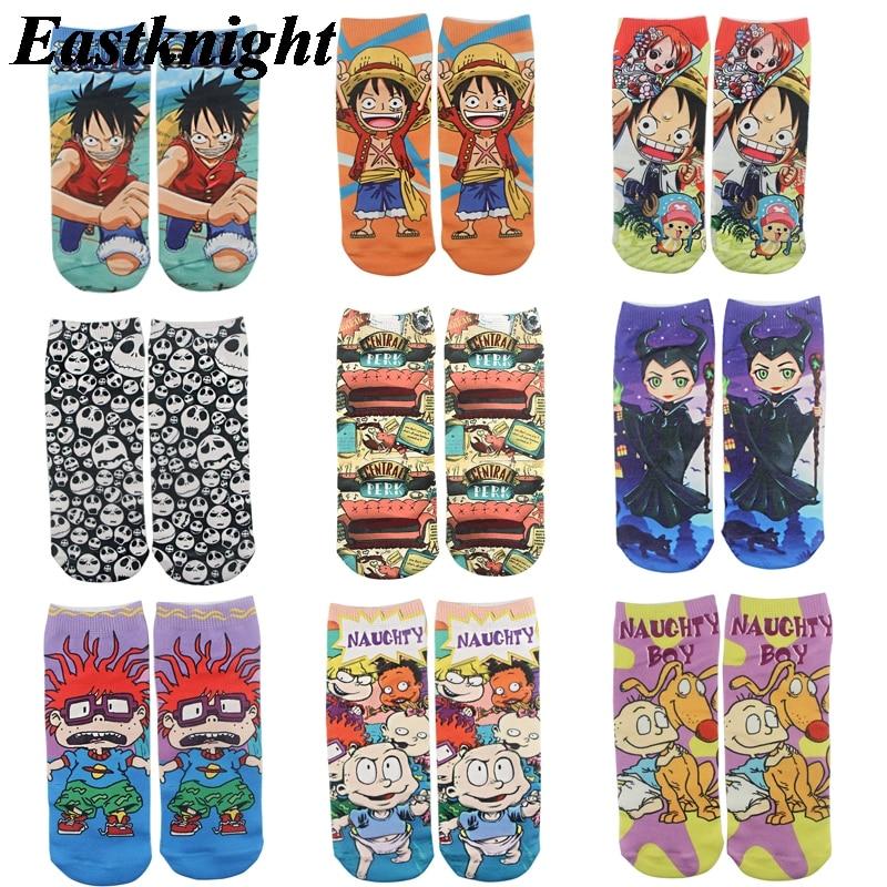 K1287 1 Pairs Friends Tv Casual Socks Invisible Autumn Socks Short Low Cut No Show Socks Cotton Funny Happy Boat Socks