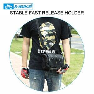 Image 5 - INBIKE Водонепроницаемая велосипедная сумка, вместительная Передняя сумка на руль, велосипедный Карманный Рюкзак на плечо, велосипедные аксессуары