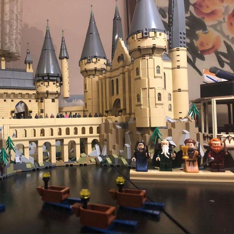 В наличии фильм H бородавок замок школьная Волшебная модель 6044 шт Строительные блоки кирпичные 71043 детский подарок совместим с 16060 игрушки - 4