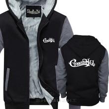 Cypress Hill men thick jacket sweatshirt hoodie black  ROCK winter autumn brand pullover for male cotton man tops sbz5336
