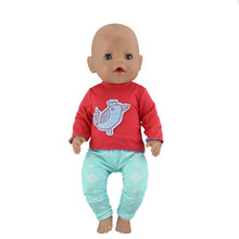New  Fashion Original clothes Suit Wear For 17 Inch  Doll 43cm  Baby Reborn Doll Clothes