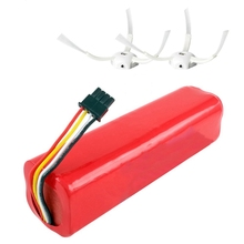 Rechargeable For Xiaomi Mijia Robot Battery + 2Pcs Side Brush 14.4V 5600Mah Robot Vacuum Cleaner Accessories Parts
