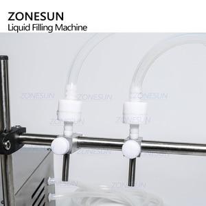 Image 2 - ZONESUN машина для наполнения жидкостью, Электрический цифровой насос для контроля парфюма, воды, сока, бутылочка с эфирным маслом Beverag, 2 головки