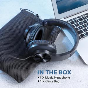 Image 5 - Oneodio T3 auriculares por encima de la oreja con cable, auriculares de graves estéreo con micrófono, auriculares ajustables para teléfono móvil