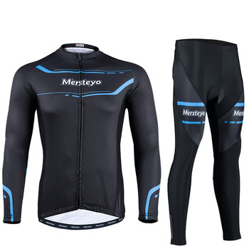 Cycling Jersey Sets Men Bike Long Sleeve Breathable Outdoor 3D Gel Padded Quick Dry Bicycle Apparel Clothing Cycling Sets