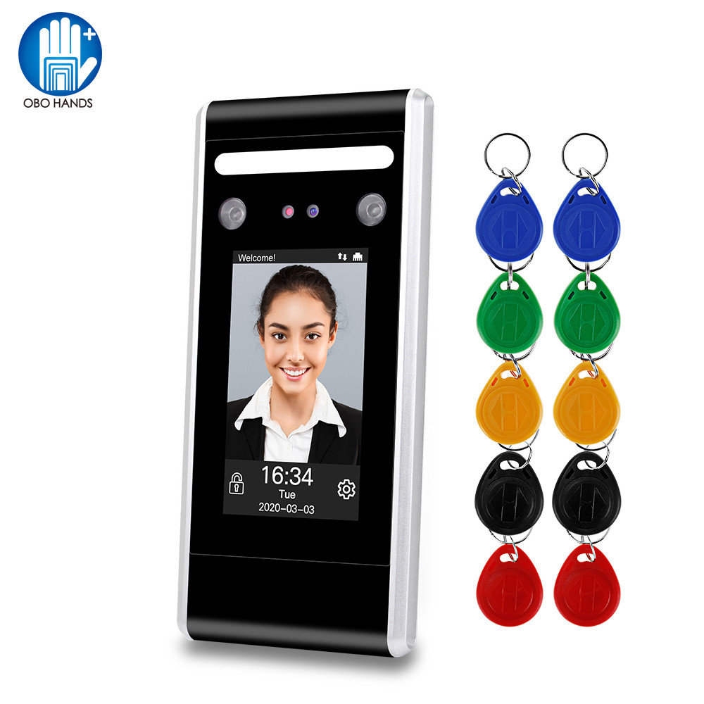 WiFi Dynamic Facial Access Control Time Attendance Machine Biometric IR Face Recognition 125KHz/13.56MHz RFID Keypad TCP/IP/USB