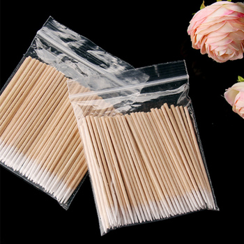 Wooden Cotton Swabs Stick for Ears Cleaning Eyebrow Lips Eyeliner Tattoo Makeup Cosmetics Tools Jewelry Clean Sticks Buds 1