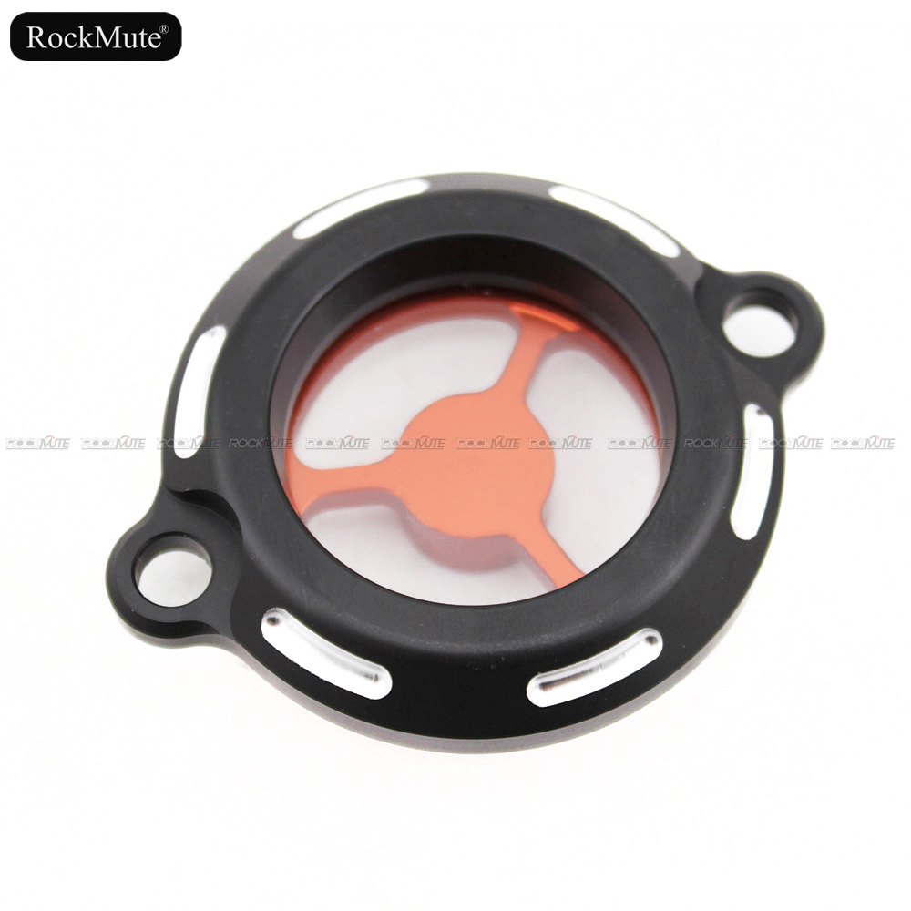 Motorcycle Engine Oil Filter Cap Cover For Bajaj Pulsar <font><b>200</b></font> <font><b>NS</b></font> 2012-2018, <font><b>200</b></font> RS 2014-2018, <font><b>200</b></font> AS 2015-2018 Clearly See Through image
