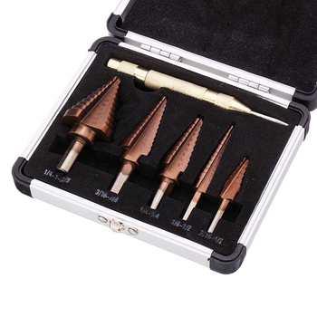6 шт., ступенчатое сверло с бронзовым покрытием из быстрорежущей стали, набор сверл для перфоратора, новый инструмент для бурения