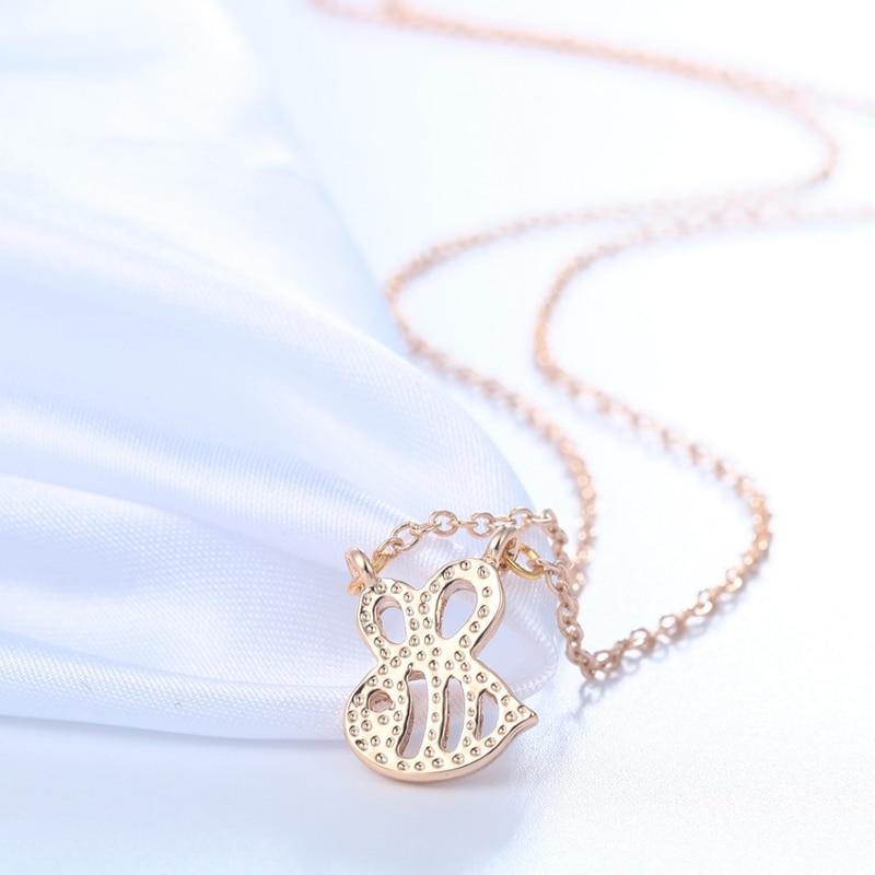 새로운 귀여운 동물 범블 비 목걸이 여자 골드 실버 아기 보석 귀여운 곤충 매력 목걸이 여자 선물
