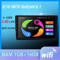 """9 """"Enlace Auto reproductor de audio Bluetooth USB DVR cámara de Vista trasera 2din radio de coche MP5 jugador Din autoradio No Android"""