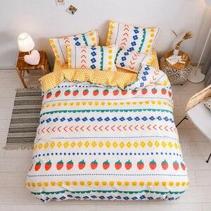 Image 5 - Juego de cama con estampado reactivo para el hogar, funda de edredón, ropa de cama, sábanas planas, 3 o 4 Uds., individual completo
