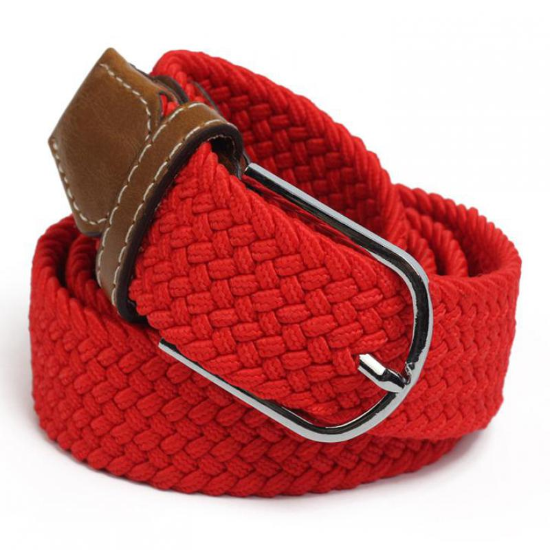 Women's stretch woven 3.5cm   belt   unisex pin buckle elastic band casual wild canvas   belt   high quality canvas men's   belt