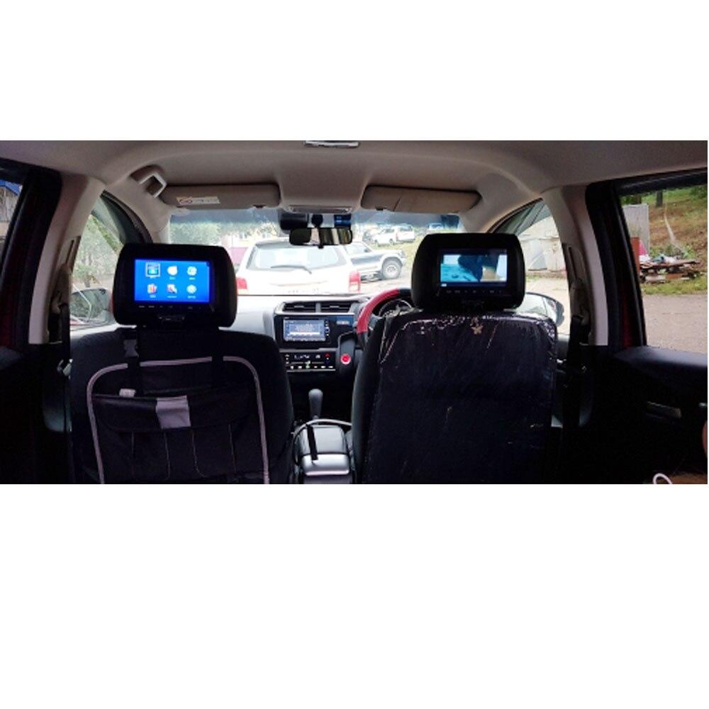 Универсальный 7 дюймов TFT светодиодный экран автомобиля MP5 плеер подголовник монитор Поддержка AV/USB/SD вход/FM/динамик/Автомобильная камера
