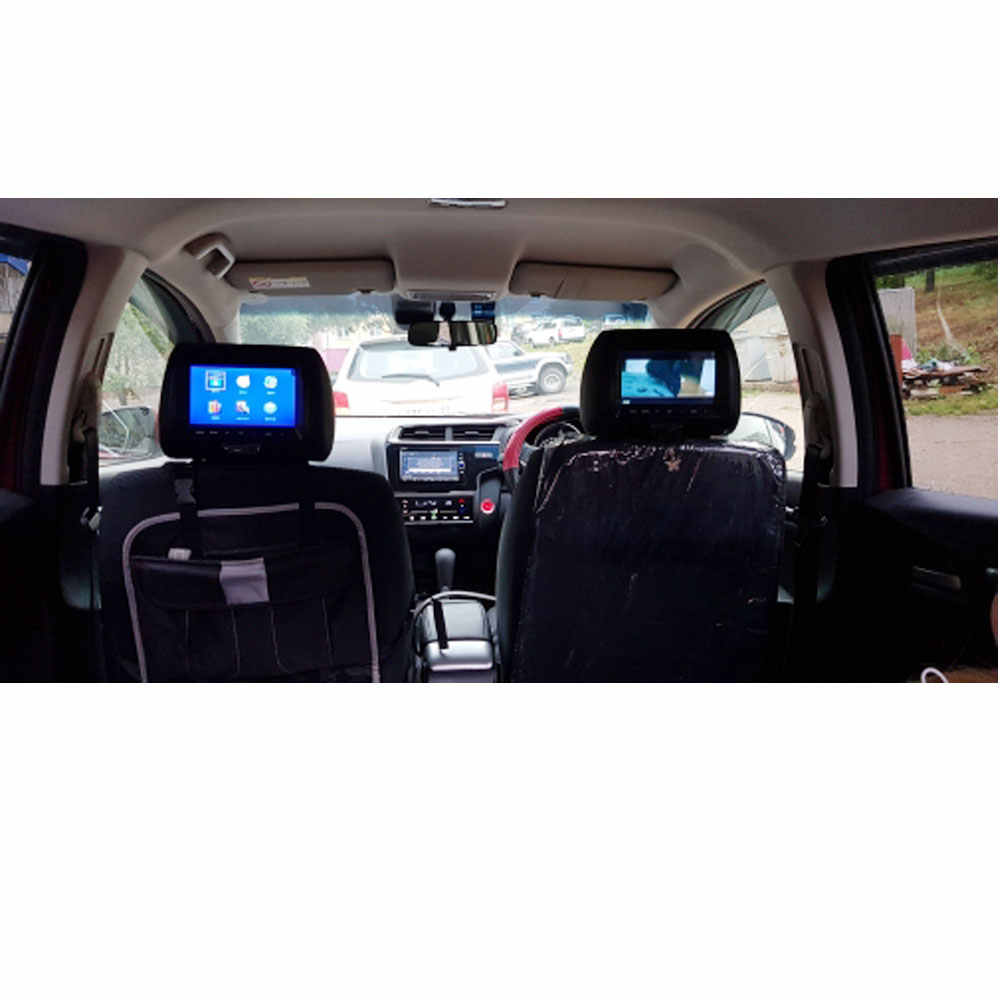 العالمي 7 بوصة TFT شاشة led سيارة MP5 لاعب راصد مسند الرأس دعم AV/USB/SD المدخلات/FM/المتكلم/سيارة الكاميرا