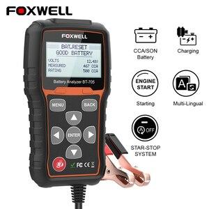 Image 1 - FOXWELL BT705 12V 24V Tester baterii analizator dla samochodów ciężarowych 100 2000 Tester obciążenia akumulatora CCA Test rozruchu i instalacja ładująca