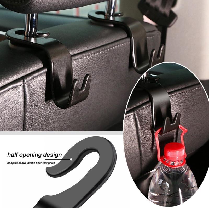 4PCS Car Back Seat Headrest Hanger Storage Hooks For Groceries Bag Handbag /&@