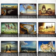 Surrealism Canvas Paintings By Salvador Dali Famous Wall Art Posters and Prints Wall Pictures for Living Room Home Decor