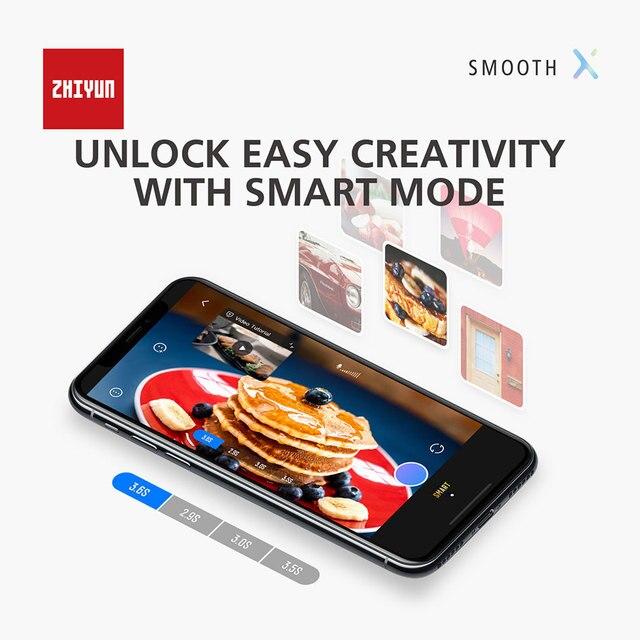 Купить zhiyun smooth x селфи палка стабилизатор gimbal palo ручной картинки цена