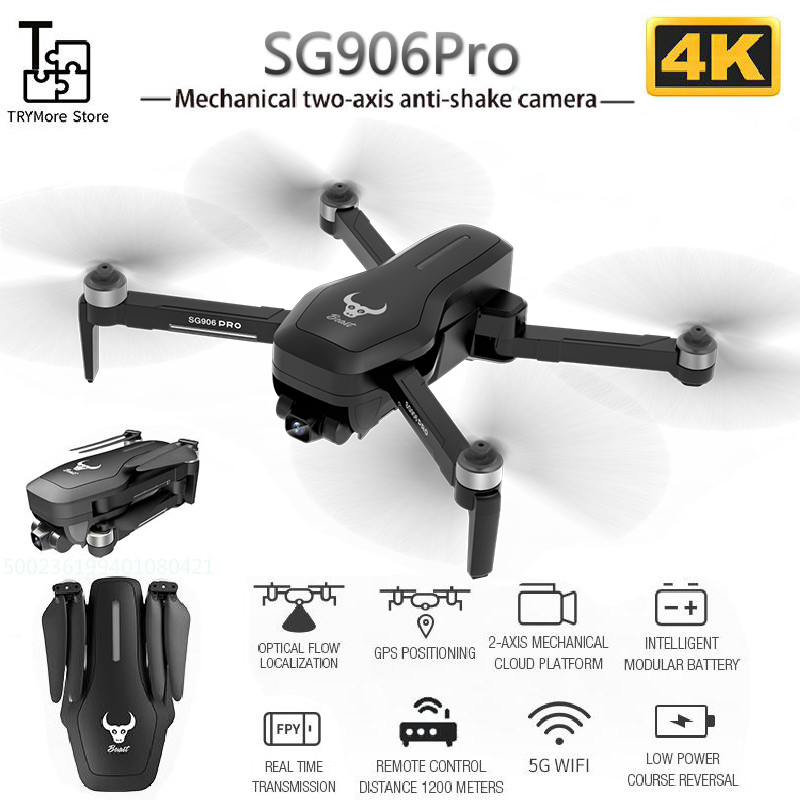 2020 New Sg906pro Gps <font><b>Brushless</b></font> 4k Rc <font><b>Drone</b></font> With 5g Wifi Fpv <font><b>Drone</b></font> Mechanical Two-axis Anti-shake Camera Rc Quadcopter <font><b>Drone</b></font> image
