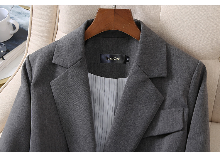 Plus size XL-5XL high quality women's blazer 2020 new spring and autumn loose jacket feminine Office top Fashion small suit gray
