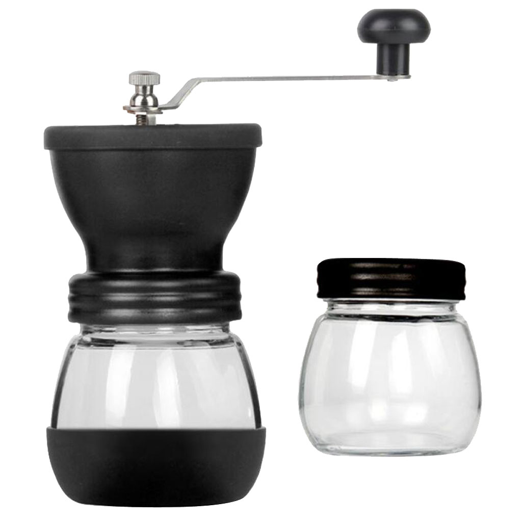 Ceramic Burr Manual Coffee Grinder Adjustable Hand Crank Coffee Beans Mill