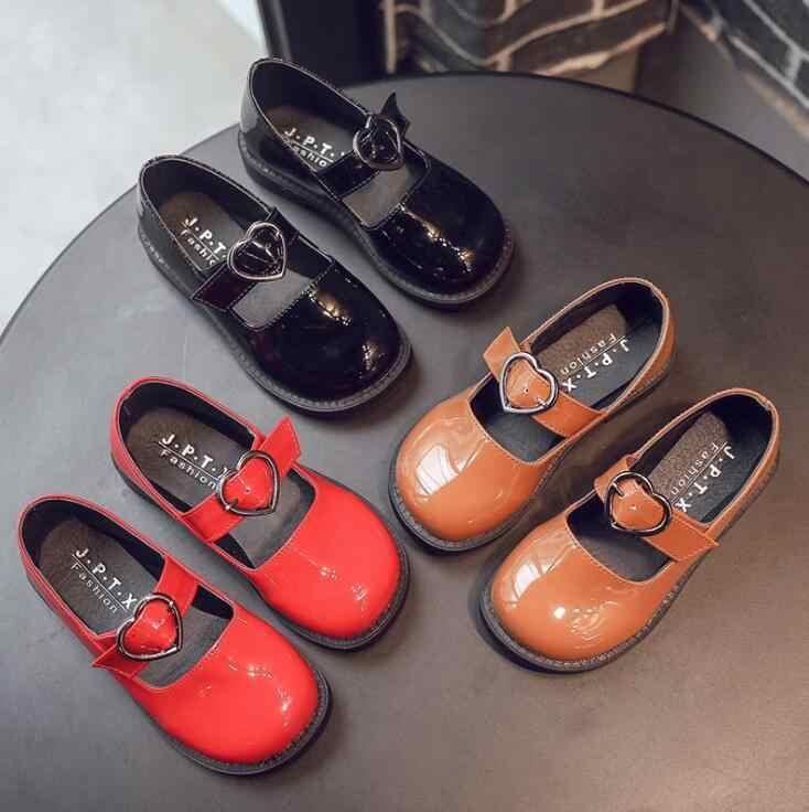 Nuevos zapatos de cuero adorables para niñas, zapatos de fiesta de boda para niños, zapatos de charol para adolescentes, zapatos de baile de princesa