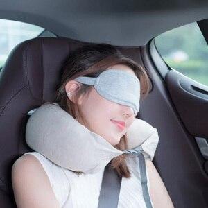 Image 5 - Original Youpin 8H Auge maske Reise Büro Schlafen Rest Hilfe Tragbare Atmungsaktive Schlaf Brille Abdeckung Fühlen kühles eis Baumwolle