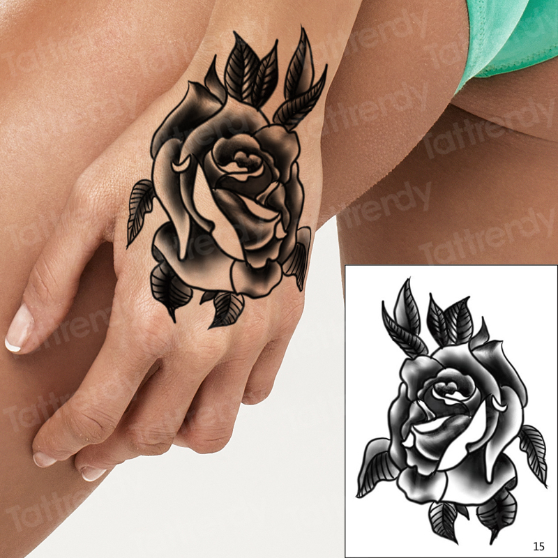 10pcs Lot Hand Rose Tattoo Henna Stickers For Hands Tatouage Temporaire Femme Tatoo Finger Temporary Henna Tattoos Wholesale Temporary Tattoos Aliexpress