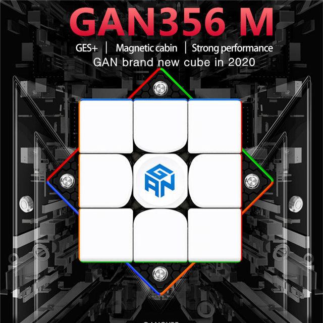 Newest GAN356 M 3x3x3 Magnetic magic Cube stickerless 3x3 Speed Cube GAN 356 Professional Puzzle Gan Cube Educational Toys 3