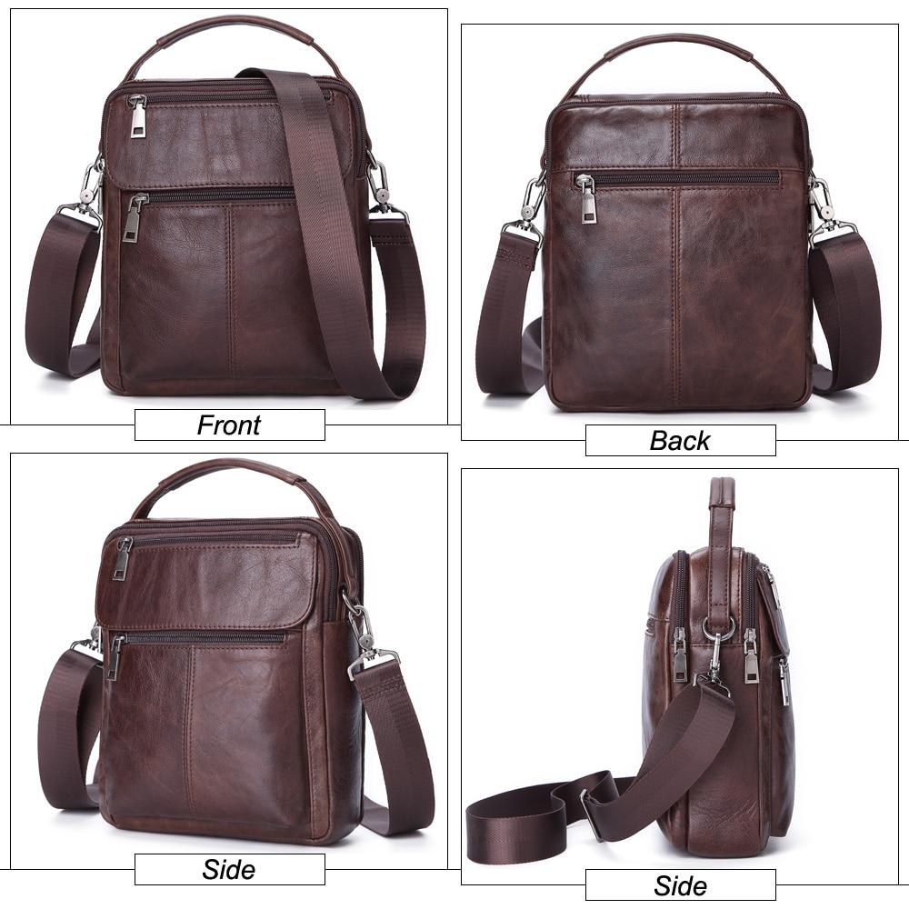 Image 4 - MISFITS Mens Messenger Bag fashion Waterproof zipper leather  shoulder Bag casual multi function business handbag mens NewCrossbody  Bags
