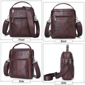 Image 4 - MISFITS Mens Messenger กระเป๋าแฟชั่นซิปหนังไหล่กระเป๋า Casual กระเป๋าถือผู้ชายใหม่