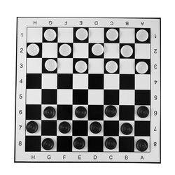 Duże plastikowe warcaby/Draughts składane szachownica międzynarodowe szachy zestaw podróży gra planszowa konkurs zabawka Zestawy szachów    -