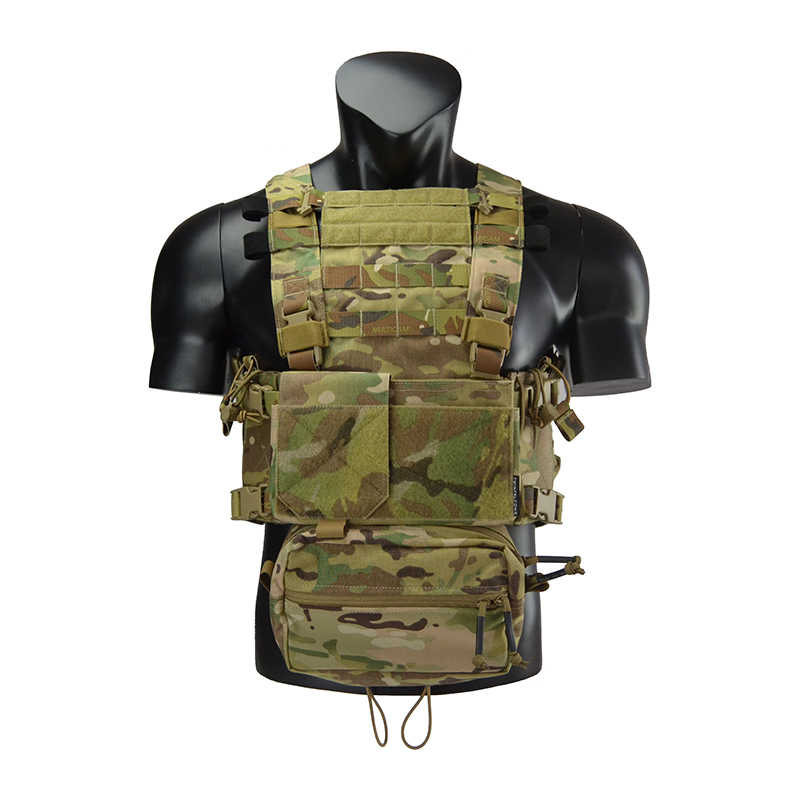 TwinFalcons ยุทธวิธี Airsoft MFC 2.0 S Chest RIG น้ำหนักเบา LOW PROFILE Delustering Cordura 500D TW-CR004S