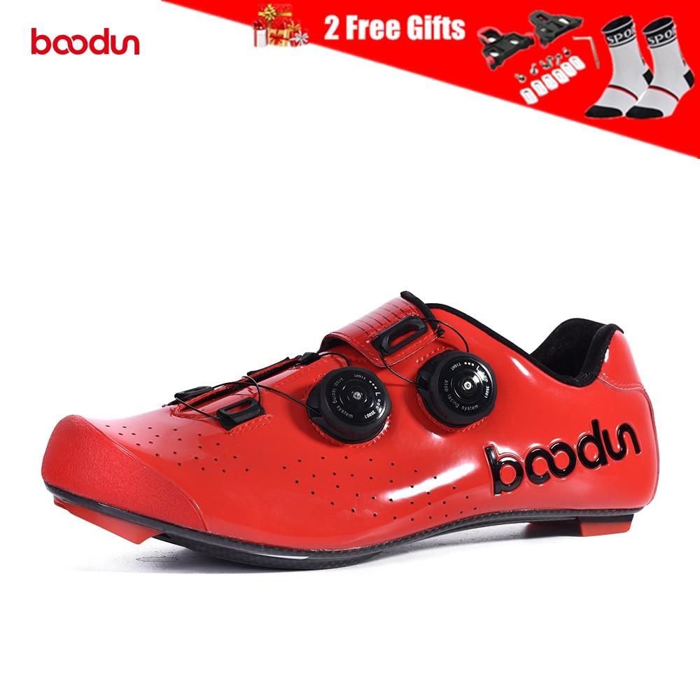 Boodun Men's Cycling Shoes Carbon Fiber Sole Road Bike Shoes Breathable  Self Locking Racing Bicycle Shoes with Cycling Cleats|Cycling Shoes| -  AliExpress