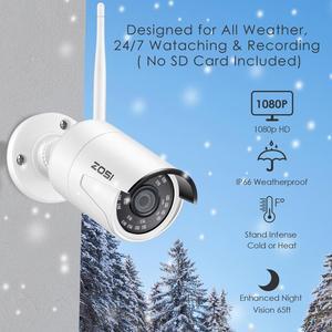 Image 2 - Zosi 8CHワイヤレスcctvシステムH.265 + 1080p nvr 2CH/4CH 2MP IR CUT屋外cctvカメラipセキュリティシステムビデオ監視キット