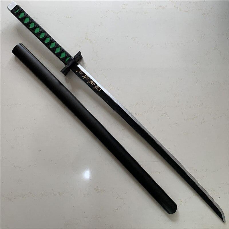 1:1 Demon Slayer Knife Sword Weapon Cosplay Kamado Tanjirou Devil's Blade Samurai Sword Ninja Katana Model PU 104cm(China)