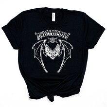 T-Shirt nocturne chemise chauve-souris effrayant lune chauve-souris chemise gothique Unsex Grunge chemise sorcellerie Punk T-Shirt Tumblr hauts chemise Harajuku