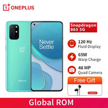 Oneplus 8 t 8 t snapdragon 865 5g smartphone 12gb 256gb 120hz display fluido 48mp quad câmeras 65w warp carga telefones celulares