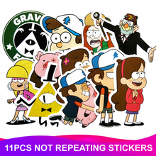 11Pcs Lot Anime Cartoon Stickers Waterproof Skateboard Travel Luggage Motorcycle Laptop Graffiti Funny Sticker Kids Girl