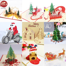 3D открытки с Санта-Клаусом, рождественские поздравительные открытки, вечерние открытки, подарки на год, открытки на юбилей, подарки на открытку