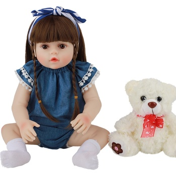 48CM Toy Full Body Silicone Water Proof Bath Toy Popular Hot Selling Reborn Toddler Baby Dolls Reborn Doll Lifelike Soft Touch