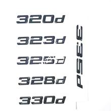 316d 318d 320d 323d 325d 330d 335d Stamm Boot Emblem Brief Abzeichen Auto Logo für BMW 3 serie F31 f34 E90 E46 Matt Glänzend Schwarz