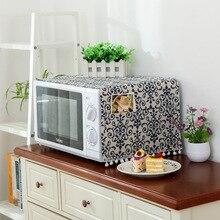 Фарфоровый цветочный чехол для микроволновой печи капюшон масляный пылезащитный чехол с сумкой для хранения кухонные принадлежности, аксессуары украшение дома