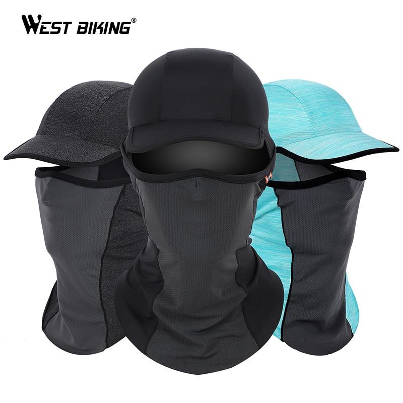 WEST BIKING Summer Cycling Caps Anti-UV Sport Mask MTB Bike Helmet Hat Running Riding Fishing Bandana Motorcycle Face Mask Cap