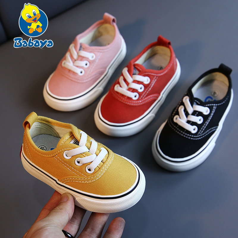 Babaya Baby Shoes Soft Bottom Baby Boy Casual Shoes 1-3 Years Old 2020Spring Children Canvas Shoes Girls Walking Shoes Toddler