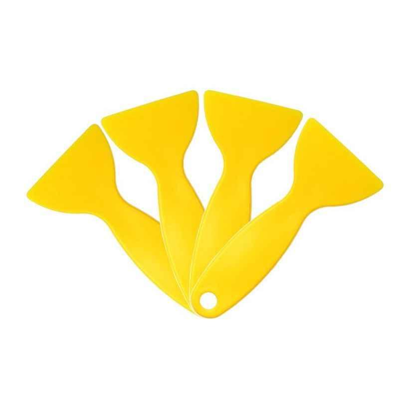 Filme de vinil envoltório amarelo plástico folhas raspador mais limpo removedor bolha ar adesivos instalar ferramentas estilo do carro rodo