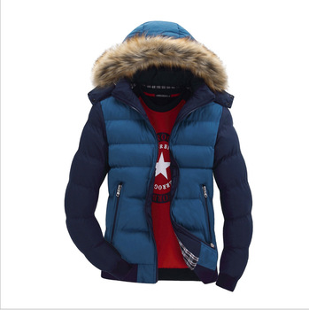 Overcoat Fashion Coats Windbreaker Thick Hombre Parkas Winter Jackets Slim Men's Parkas Mid-long Hats Casual Windproof