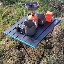 Mesa de acampamento rolante de alumínio ideal para mochila, acampamento, a praia, festas e muito mais, design leve